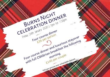 Burns Night Celebration Dinnner - The Villa Levens : The